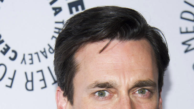 "Jon Hamm from the cast of ""Man Men"" attends ""Mad-ness Returns to the Paley Center"" at The Paley Center for Media on Tuesday, April 23, 2013, in New York. (Photo by Charles Sykes/Invision/AP)"