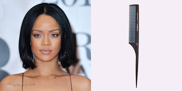 Rihanna at Brit Awards – Bob with Middle Part