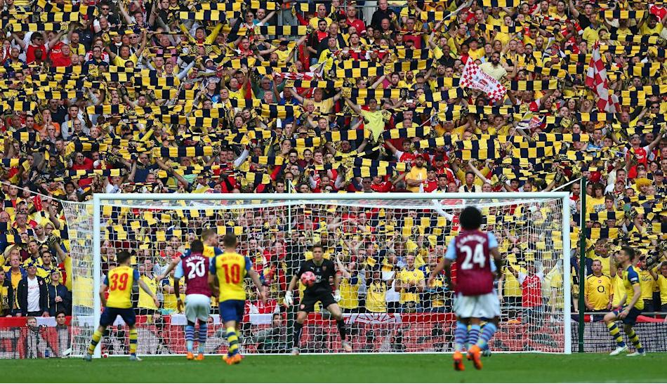 SOC: General view of Arsenal fans during the action