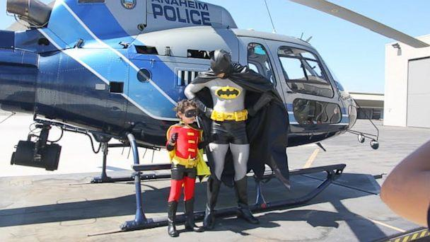 Boy, 7, With Leukemia Fulfills Superhero Dream as 'Robin' for the Day