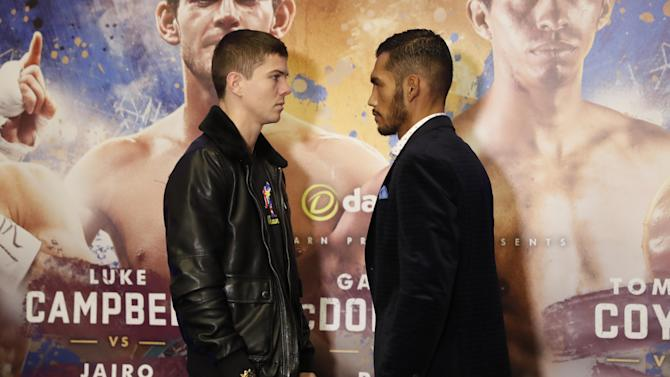 Luke Campbell and Jairo Lopez go head-to-head after the press conference
