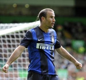 Inter Milan's Rodrigo Palacio netted the winner against Partizan Belgrade