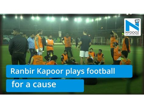 Ranbir promotes Football