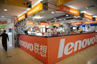 A Lenovo shop is seen at a computer mall in Beijing, in 2011. Lenovo Group said on Thursday it had become the global market leader in consumer and notebook personal computers, as it posted a 13 percent rise in second-quarter net profit