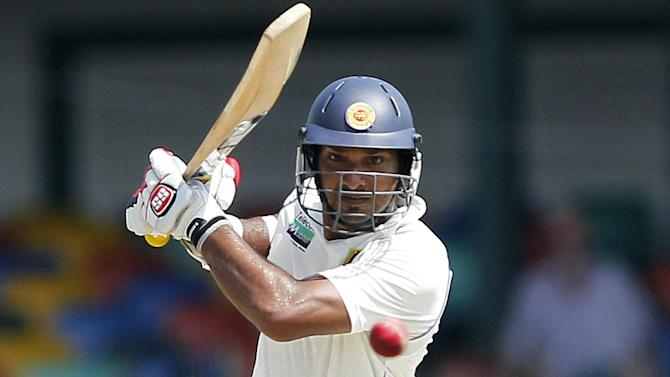 Cricket - Sangakkara's 10th double ton puts Sri Lanka ahead