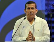 Peruvian President Ollanta Humala, pictured here in April 2012, will set off this week on his first official trip to Asia, seeking to sell his country as an ideal hub for trade between Latin America and the Asia-Pacific. Humala, who will be accompanied by several key ministers and a number of business leaders, on Tuesday will make his first stop in Japan, Peru's number five trading partner