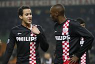 Ajax captain Luis Suarez was not sent off the pitch but later has accepted a seven-match ban for biting PSV Eindhoven midfielder Otman Bakkal's shoulder during the Dutch Eredivisie match between Ajax Amsterdam and PSV Eindhoven at the Amsterdam Arena on November 20, 2011 at Amsterdam, Netherlands. (Photo by VI Images via Getty Images)