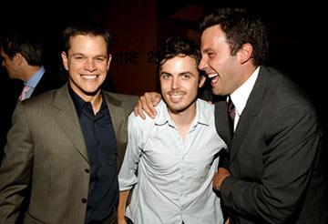 Premiere: Matt Damon, Casey Affleck and Ben Affleck at the Los Angeles premiere after party for Dimension Films' The Brothers Grimm - 8/8/2005