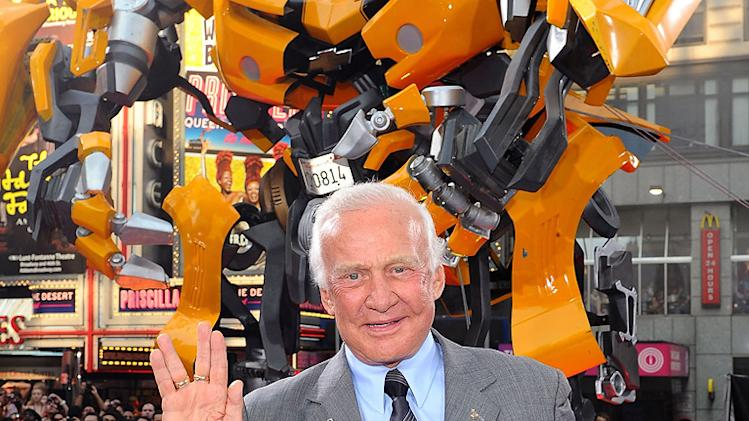 Transformers Dark of the Moon NY premiere 2011 Buzz Aldrin