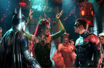 George Clooney , Uma Thurman and Chris O'Donnell in Warner Brothers' Batman & Robin