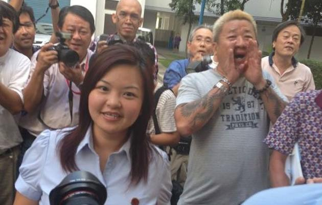 Lee Li Lian is all smiles at her victory parade