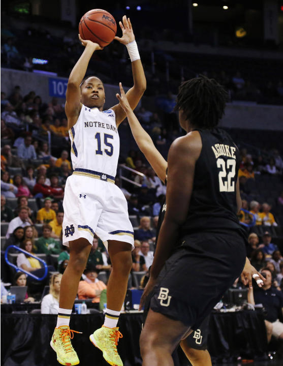 Notre Dame beats Baylor, advances to 5th straight Final Four
