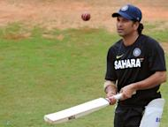 Sachin Tendulkar at a team practice session at the M. Chinnaswamy Stadium in Bangalore on August 29. He is the world's leading run-getter in both Test and one-day cricket with 100 international centuries