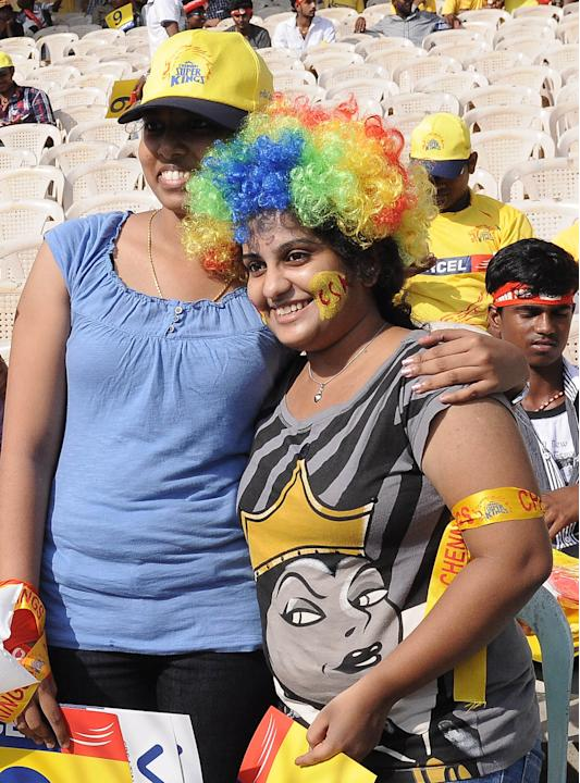 Spectators during the match between Chennai Super Kings and Kings XI Punjab at MA Chidambaram Stadium, Chepauk, Chennai on May 2, 2013. (Photo: IANS)