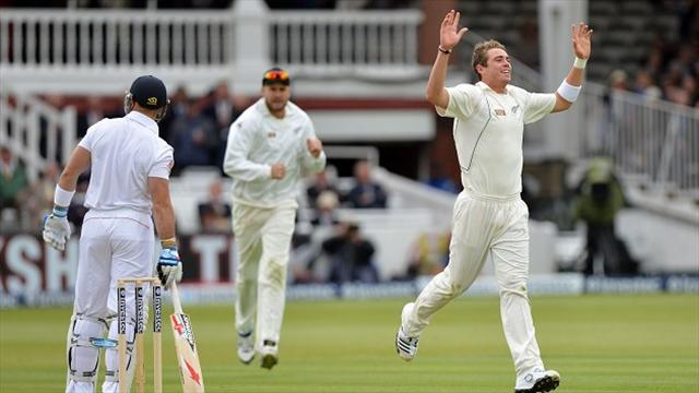 Cricket - Southee sparks England collapse