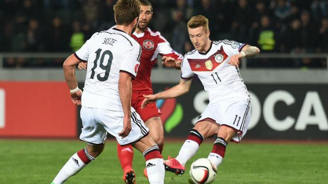 International football round-up: Germany rout Georgia, Brazil and France win friendlies
