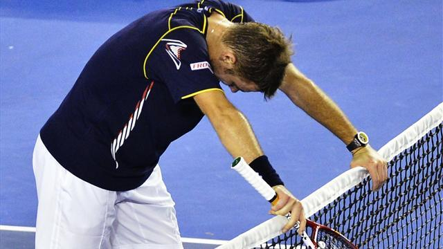 Tennis - Teary Wawrinka: I could do no more