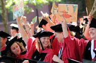 Harvard University students at the School of Education at their graduation ceremony in Cambridge, Massachusetts in June 2009. US and British institutions once again dominate an annual worldwide league table of universities published Thursday, but there is a fresh name at the top, unseating long-time leader Harvard