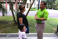 SDA's Desmond Lim promises to improve childcare facilities should he get elected. (Yahoo! photo)