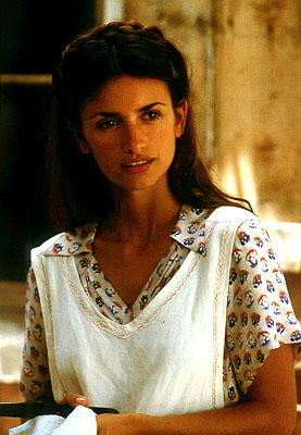Penelope Cruz as strong-willed Greed villager Pelagia in Universal's Captain Corelli's Mandolin