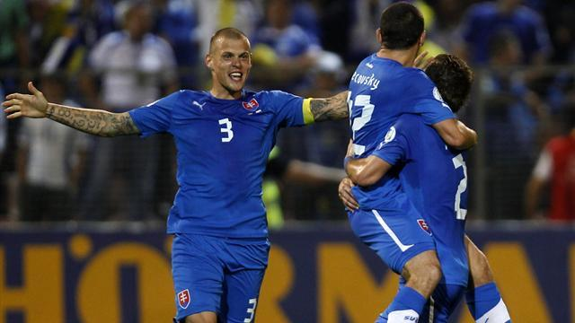 World Cup - Slovakia condemn Bosnia to first defeat in World Cup qualifiers