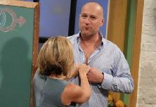 Chef Cat Cora and John Corbett cut loose on Access Hollywood Live on November 17, 2011 -- Access Hollywood