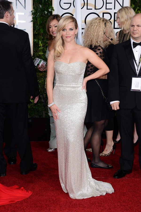 Reese Witherspoon arriving at the 72nd annual Golden Globe Awards held