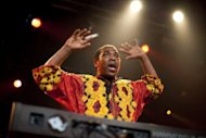 Femi Kuti, Nigerian musician and son of late Afrobeat icon Fela Kuti, performs during the 45th Montreux Jazz Festival, in 2011