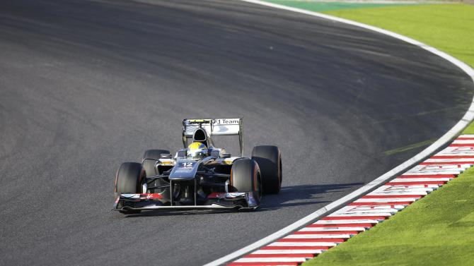 Sauber Formula One driver Gutierrez of Mexico races during the Japanese F1 Grand Prix at the Suzuka circuit