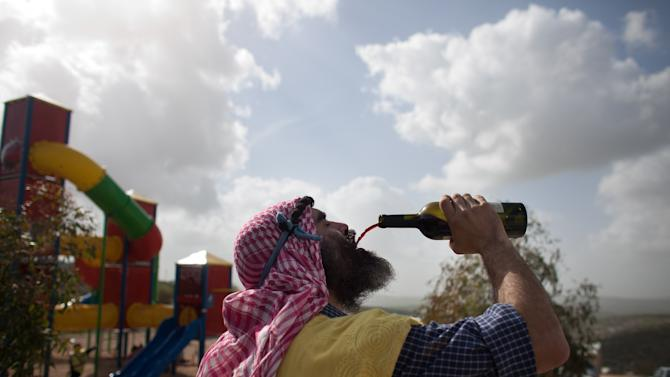 West Bank Settlers Celebrate Purim
