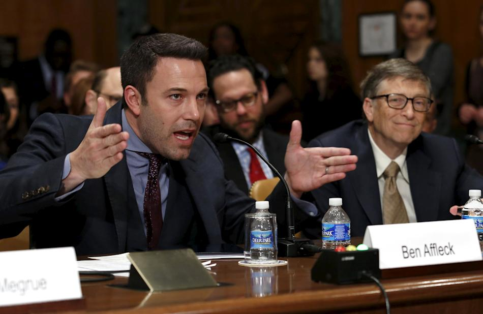 Ben Affleck and Bill Gates testify before a Senate Appropriations State, Foreign Operations and Related Programs Subcommittee hearing
