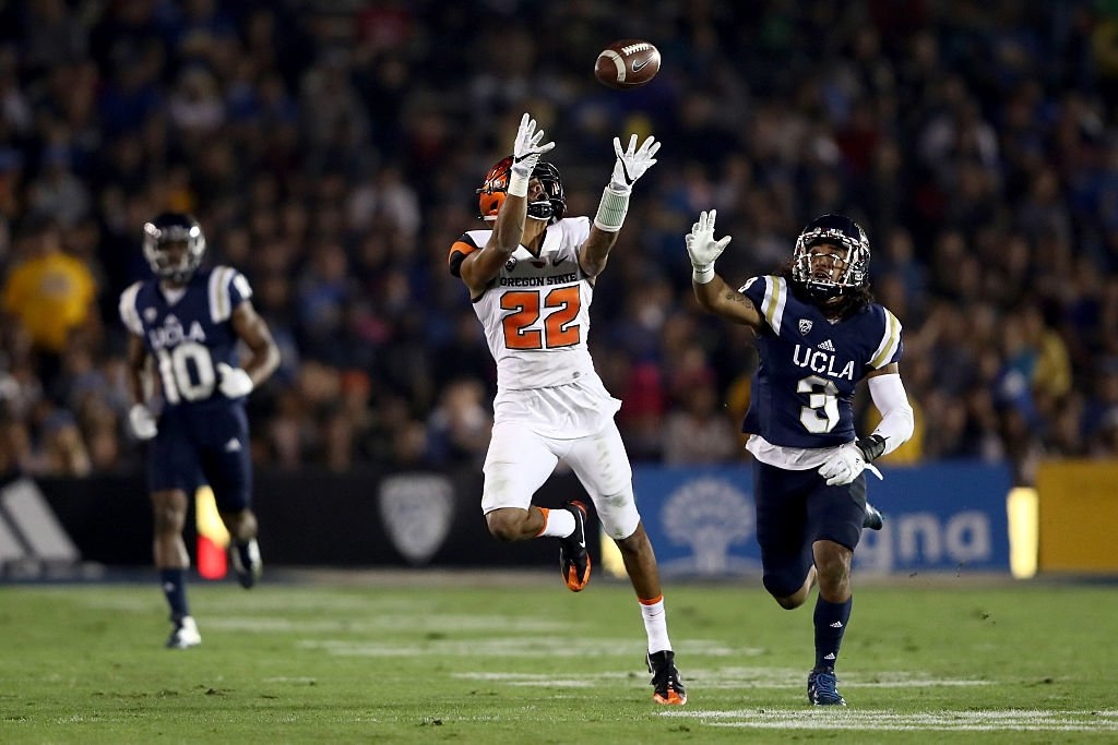 Oregon State second-leading receiver Seth Collins is in the hospital with an undisclosed illness. (Getty)