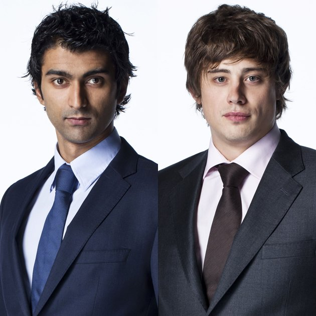 The Apprentice candidates Azhar Siddique and Nick Holzherr /BBC Pictures