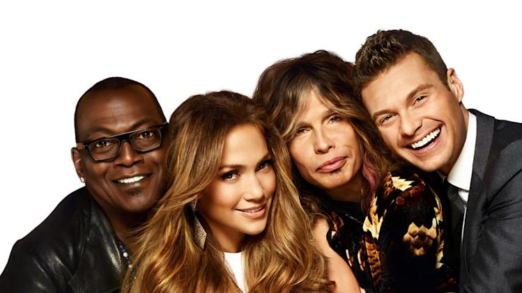 "Randy Jackson, Jennifer Lopez, Steven Tyler and Ryan Seacrest in Season 11 of ""American Idol."""