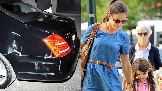 Fender Bender in NY For Katie Holmes & Suri