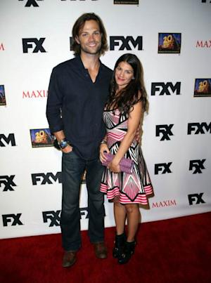Jared Padalecki and his wife Genevieve Padalecki attend the Maxim, FX and Home Entertainment Comic-Con Party on July 19, 2013 in San Diego -- Getty Images