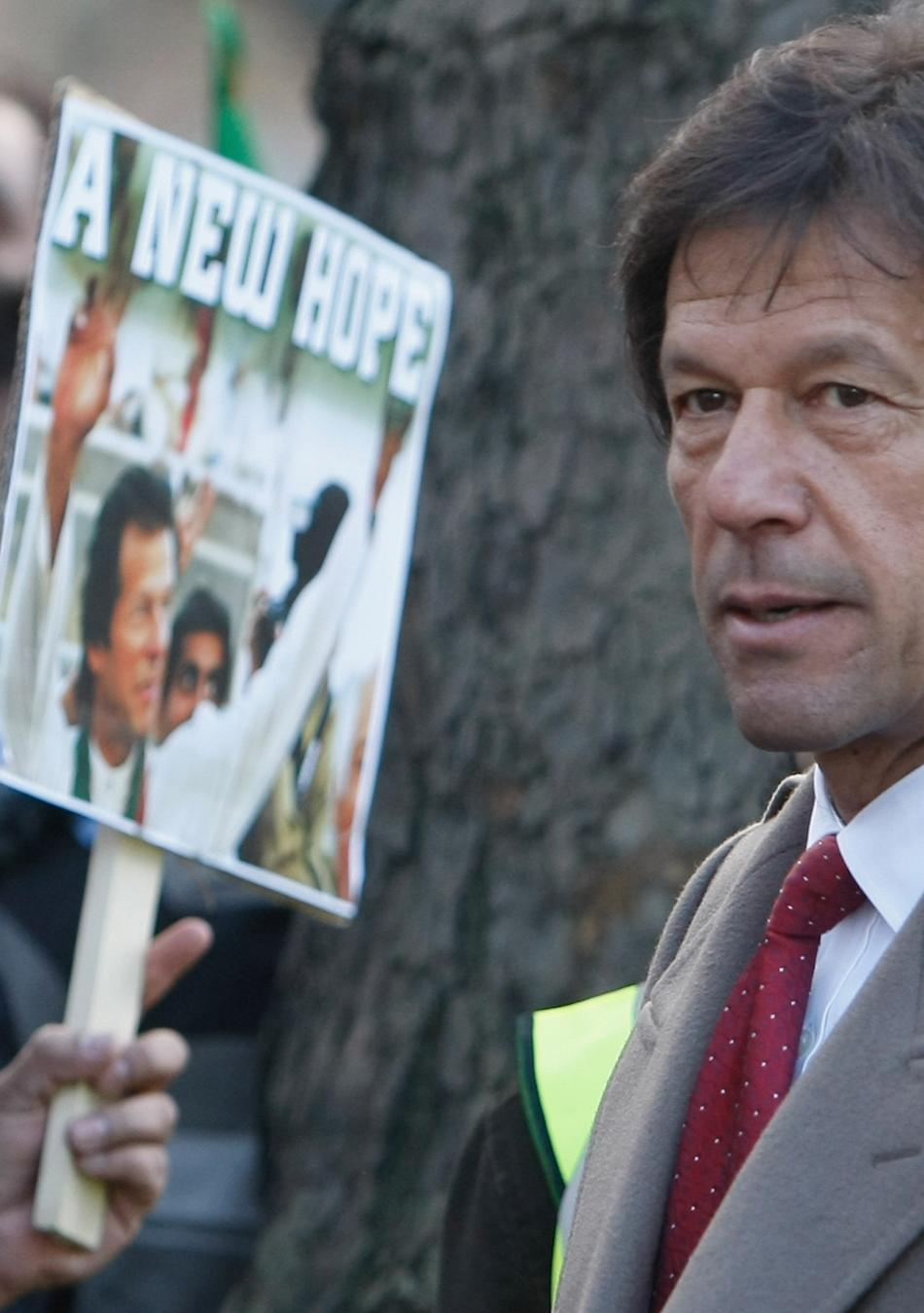 Imran And Jemima Khan Lead Protests At Downing Street