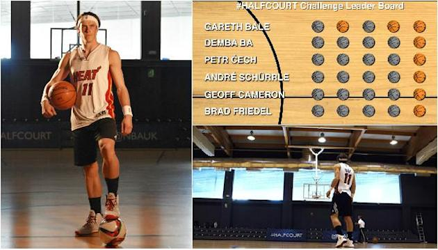 Real Madrid's Gareth Bale takes NBA #HalfCourt Challenge
