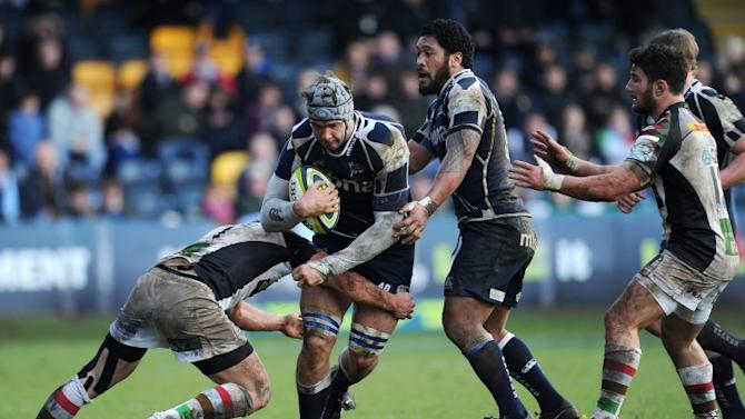 Sale second row with inspired keep-away before lumbering in for a try