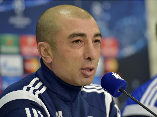 FILE - In this Feb. 17, 2015 file photo Schalke's head coach Roberto di Matteo attends a press conference prior to the Champions League round of 16 first leg soccer match between FC Schalke 04 and