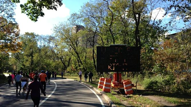 No vehicles coming into Central Park today. #unofficial #nycmarathon