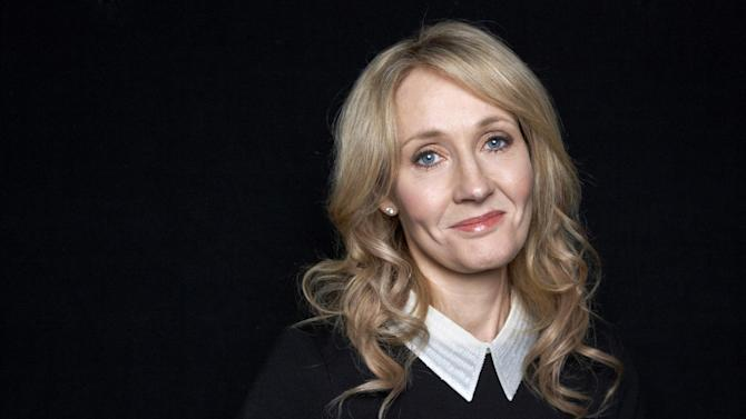 """This Oct. 16, 2012 photo shows author J.K. Rowling at an appearance to promote her latest book """"The Casual Vacancy,"""" at The David H. Koch Theater in New York. Rowling, the popular author of the """"Harry Potter"""" series, spoke for just over an hour before a capacity crowd in her sole U.S. public appearance to promote her first novel for grownups.  (Photo by Dan Hallman/Invision/AP)"""