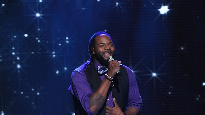 """Jermaine Jones performs """"Dance With My Father"""" by Luther Vandross on """"American Idol."""""""