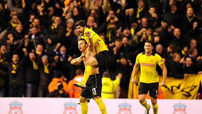 Young Boys' Elsad Zverotic, left, netted the equaliser