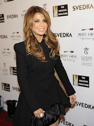 Paula Abdul arrives at the Creative Coalition Night Before Dinner on Sunday, Jan. 20, 2013, in Washington. (Photo by Nick Wass/Invision/AP)