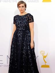 Lena Dunham arrives at the 64th Primetime Emmy Awards at Nokia Theatre L.A. Live in Los Angeles on September 23, 2012 -- Getty Images