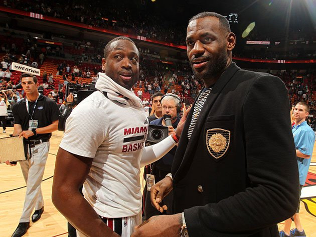 Dwyane Wade has been dressing LeBron James for years. (Getty Images)