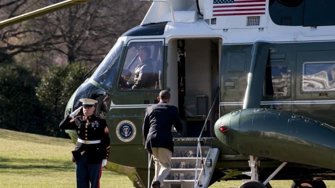 President Obama Departs The White House For Trip To Florida