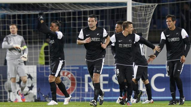 Champions League - Malaga win group with draw at Zenit