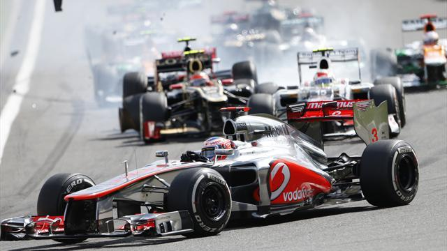 Button wins after Spa crash chaos